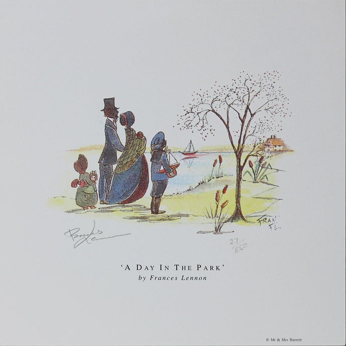 Frances Lennon Signed Print - A day in the park - De Lacey Fine Art