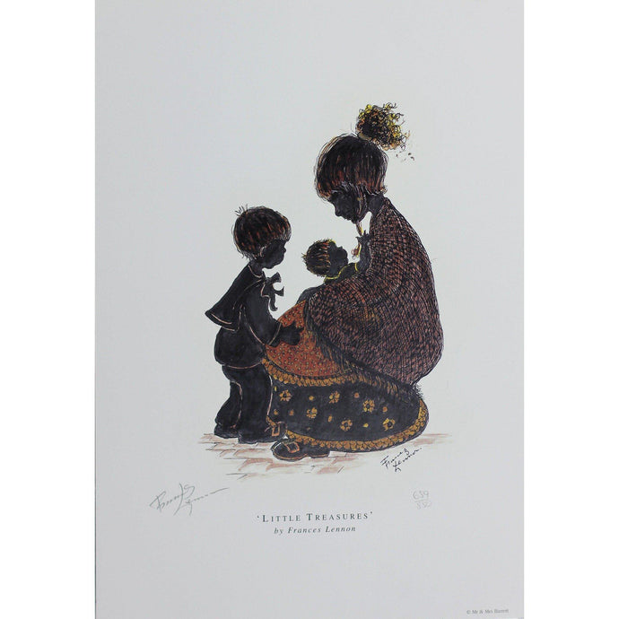Frances Lennon Signed Print  - Little Treasures - De Lacey Fine Art