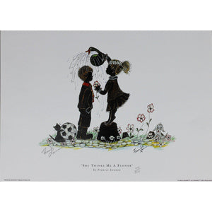 Frances Lennon Signed Print - She thinks me a flower - De Lacey Fine Art