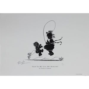 Frances Lennon Signed Print - Skip to my lou my darling - De Lacey Fine Art