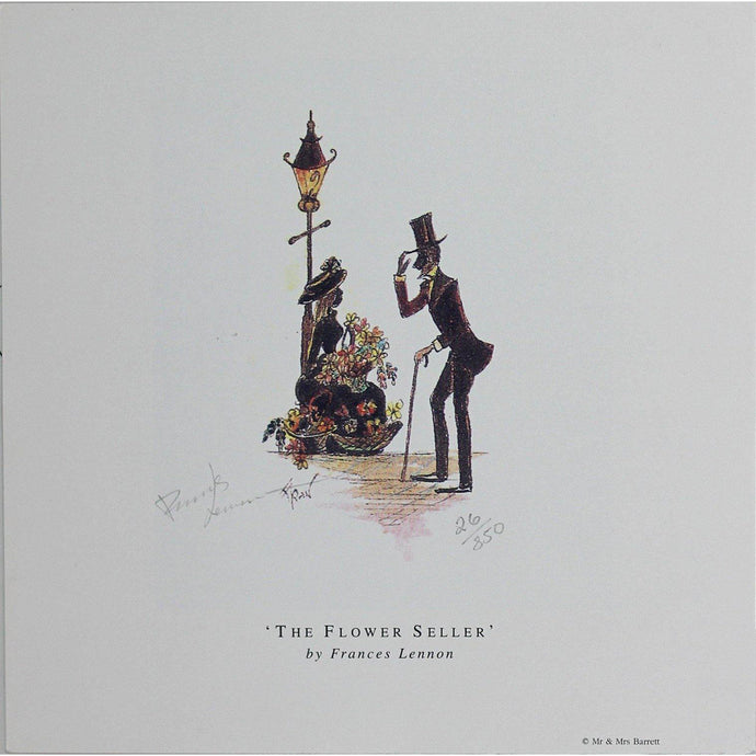 Frances Lennon Signed Print - The flower seller - De Lacey Fine Art
