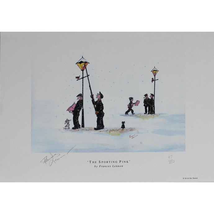 Frances Lennon Signed Print  - The Sporting Pink - De Lacey Fine Art