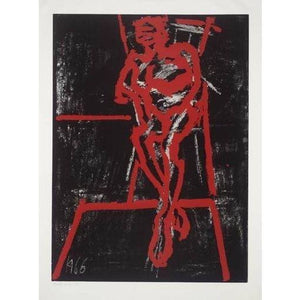 Frank Auerbach Seated figure - De Lacey Fine Art