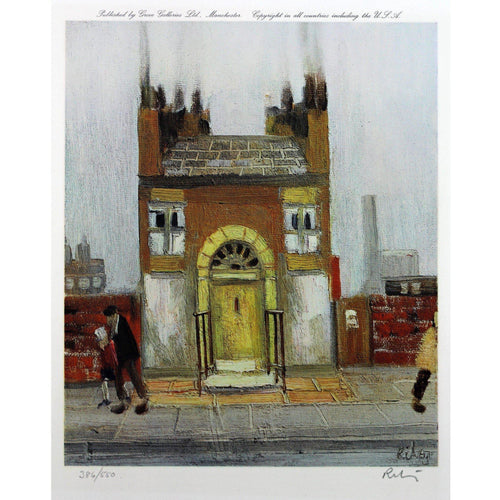 Harold Riley Signed Ltd Ed Print Northern Art - 'The Yellow Door' - De Lacey Fine Art