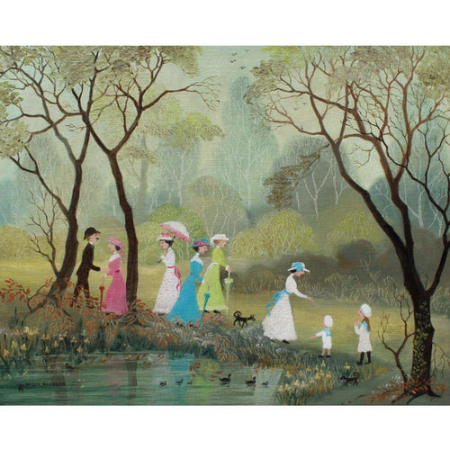 Helen Bradley  Signed Ltd Ed Print - 'On a Lovely Summers Day' - De Lacey Fine Art