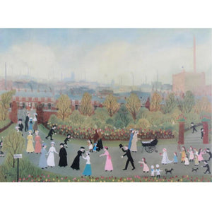 Helen Bradley Signed Print  - 'The Park on May Day' - De Lacey Fine Art