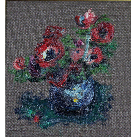 James Lawrence Isherwood Anemonies on a dark background