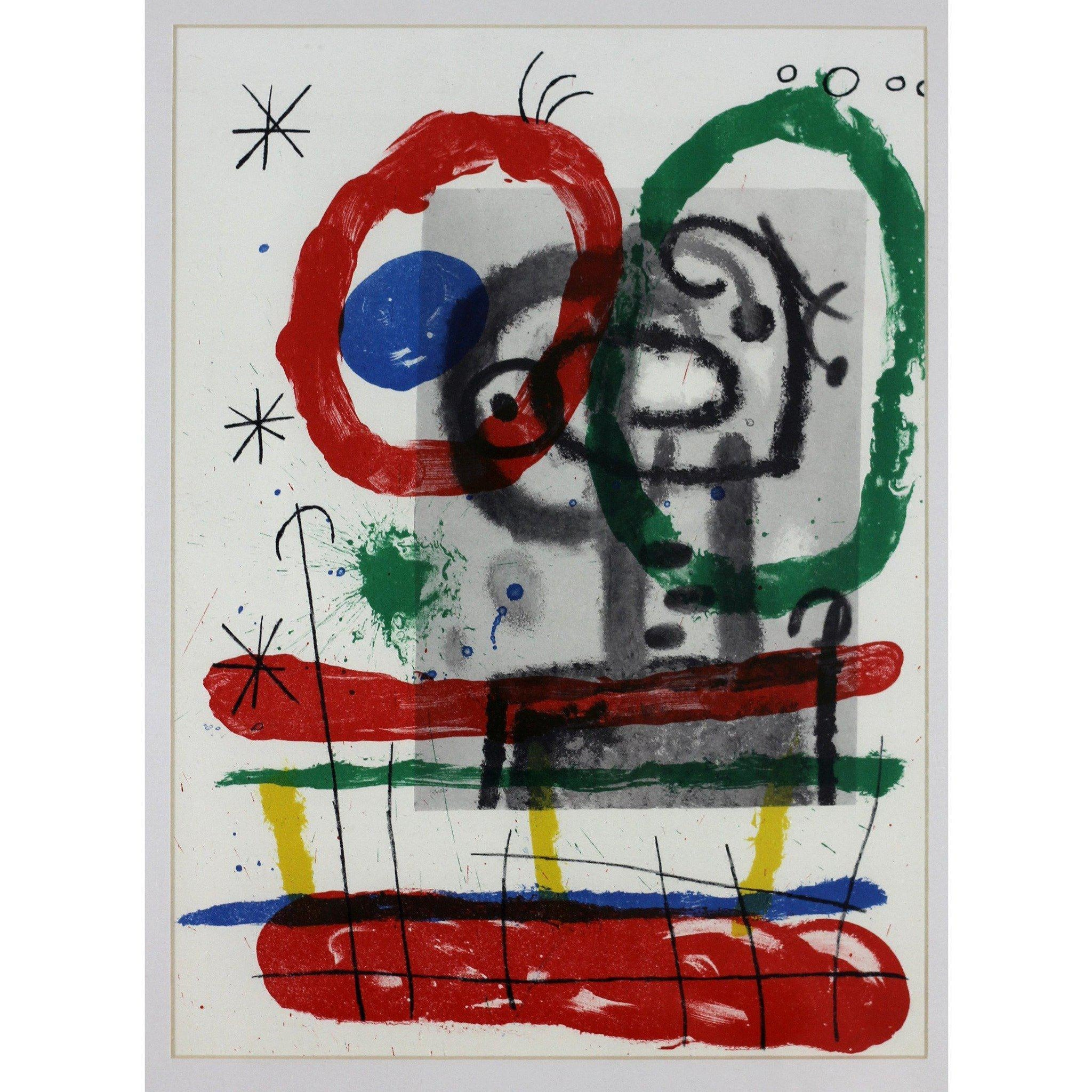 Joan Miro Ltd Ed Lithograph - Derrier le mirroir (B)