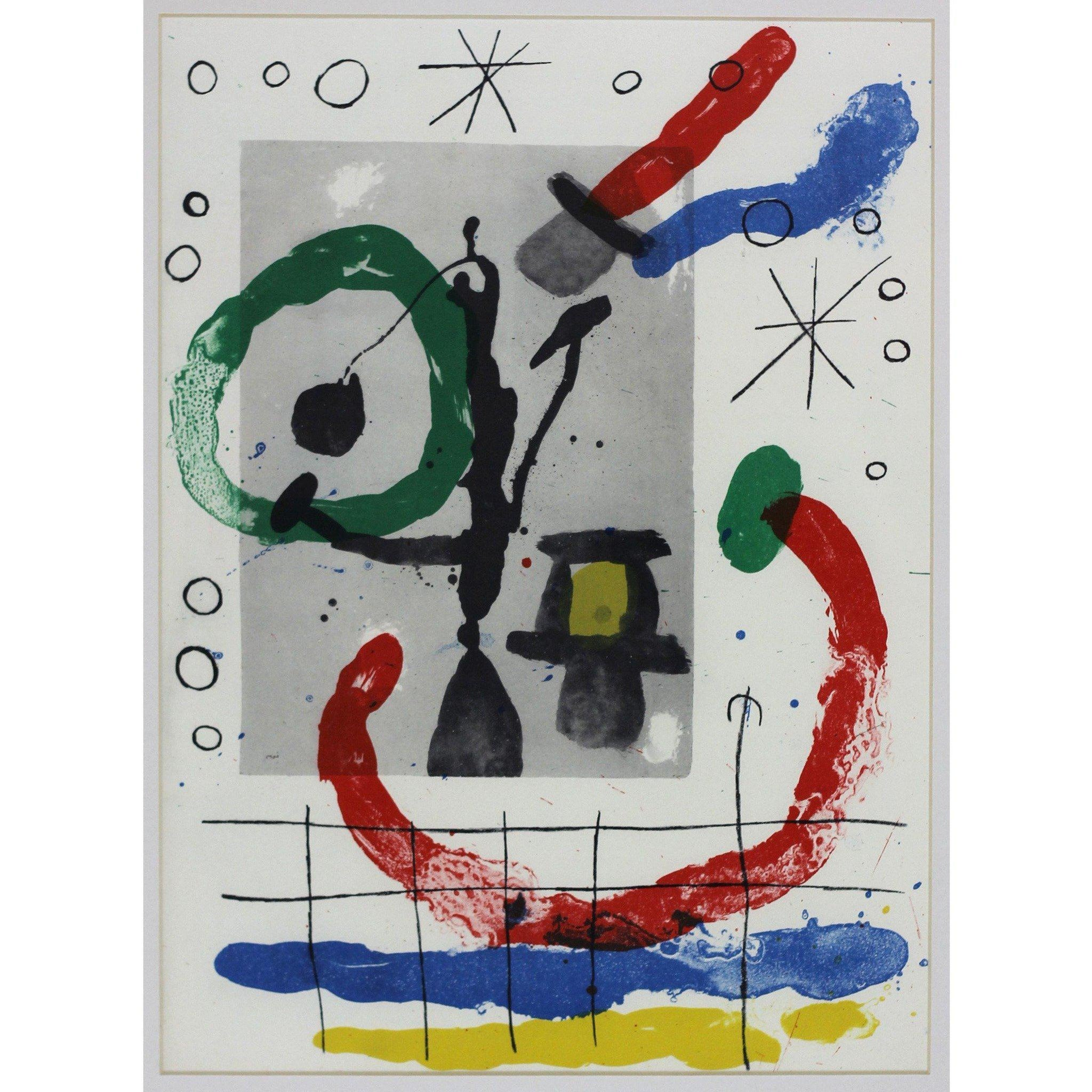 Joan Miro Ltd Ed Lithograph - Derrier le mirroir (C)