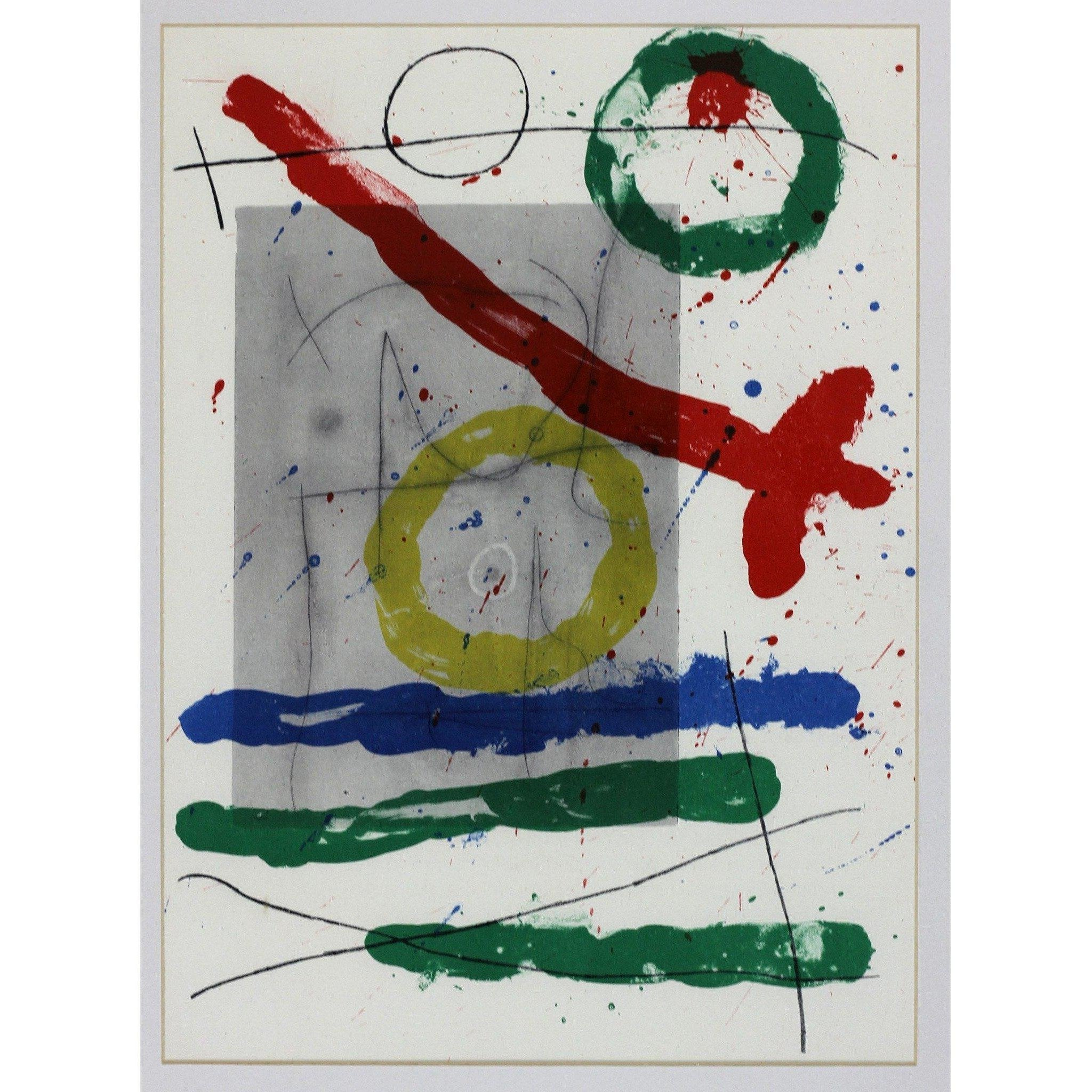 Joan Miro Ltd Ed Lithograph - Derrier le mirroir (G)