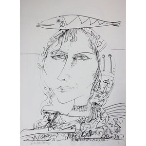 John Bellany Signed Ltd Ed Lithograph Print - Call of the sea suite 8 - De Lacey Fine Art