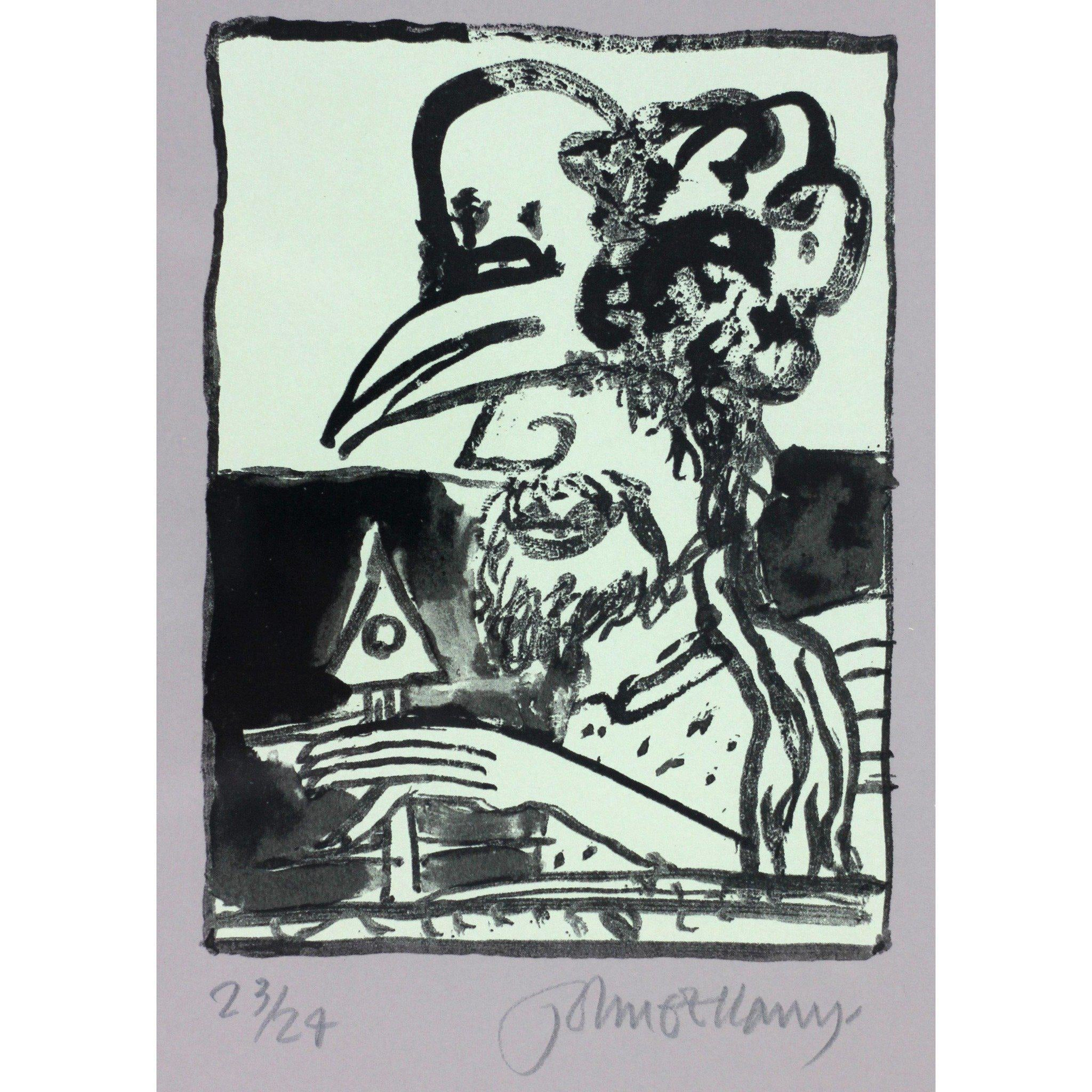 John Bellany Man with Hen Mask