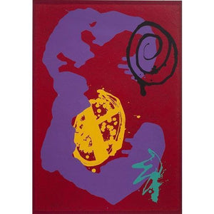 John Hoyland Limited Edition Print Wandering Moon - De Lacey Fine Art
