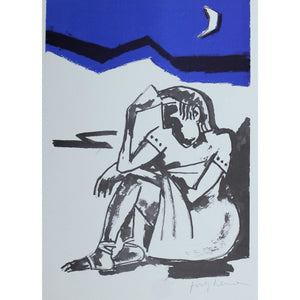Josef Herman Signed Ltd Ed Print - Catullus, Deep in thought - De Lacey Fine Art