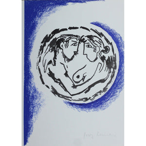 Josef Herman Signed Ltd Ed Print - Catullus, Lovers Embrace - De Lacey Fine Art