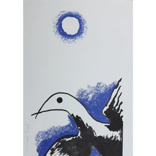 Josef Herman Signed Ltd Ed Print - Catullus, The bird - De Lacey Fine Art
