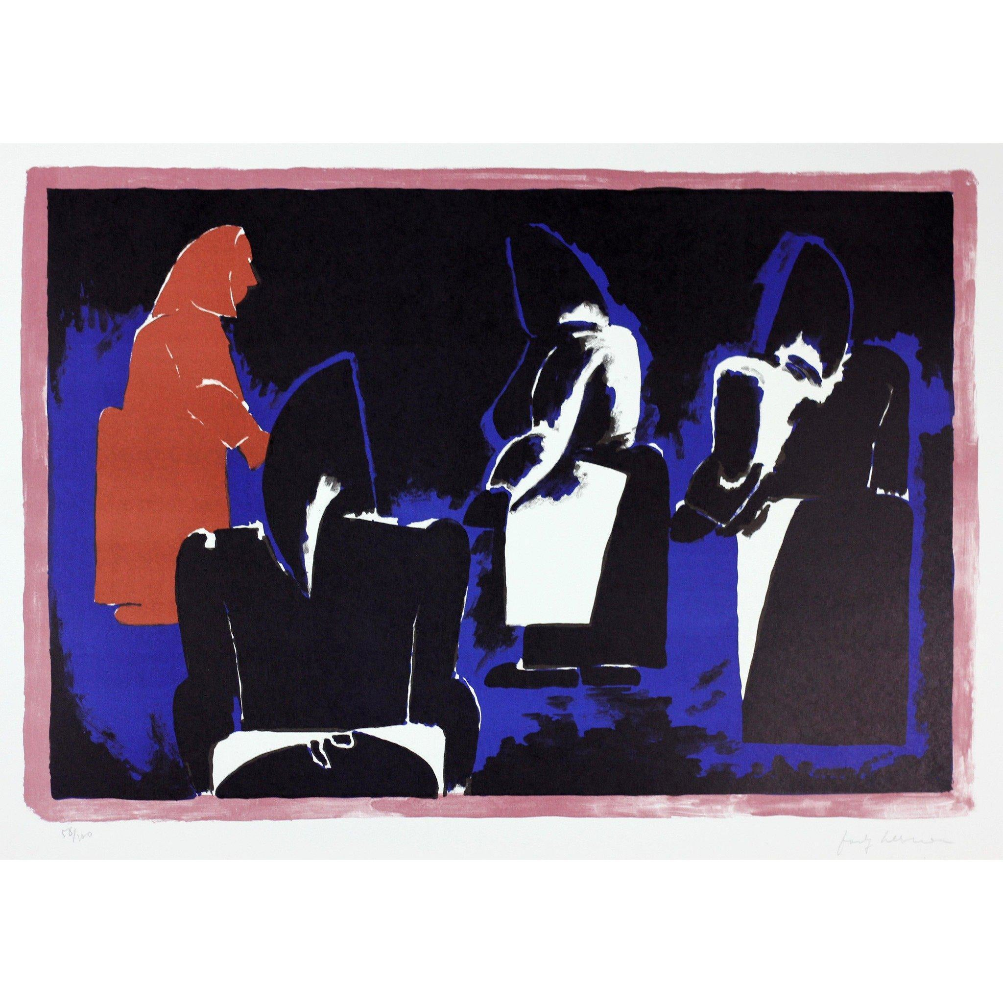 Josef Herman Signed Ltd Ed Print - Four Fisherwomen