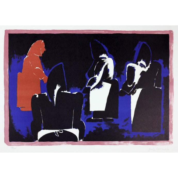 Josef Herman Signed Ltd Ed Print - Four Fisherwomen - De Lacey Fine Art
