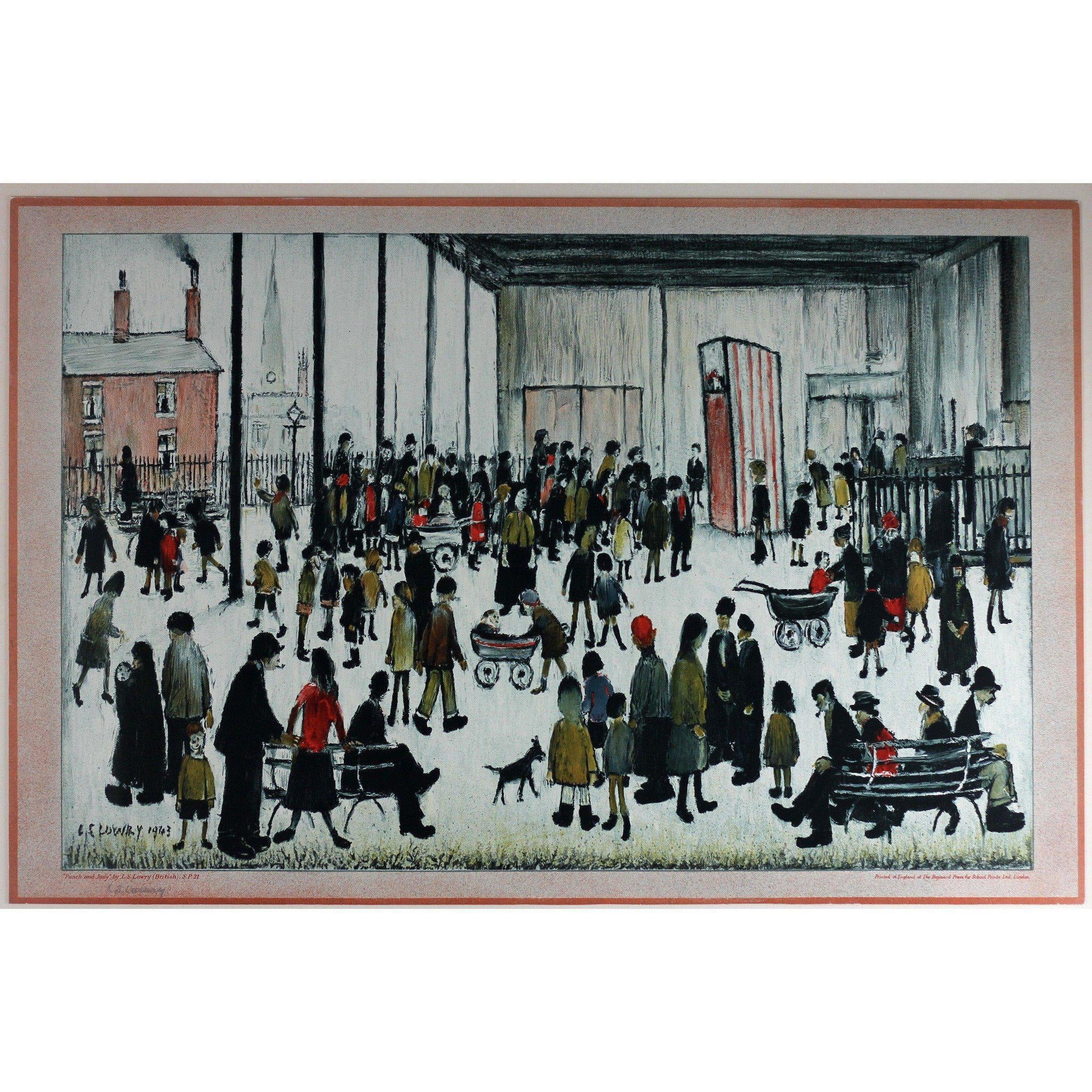 L S Lowry Signed Ltd Ed Lithograph - Punch & Judy