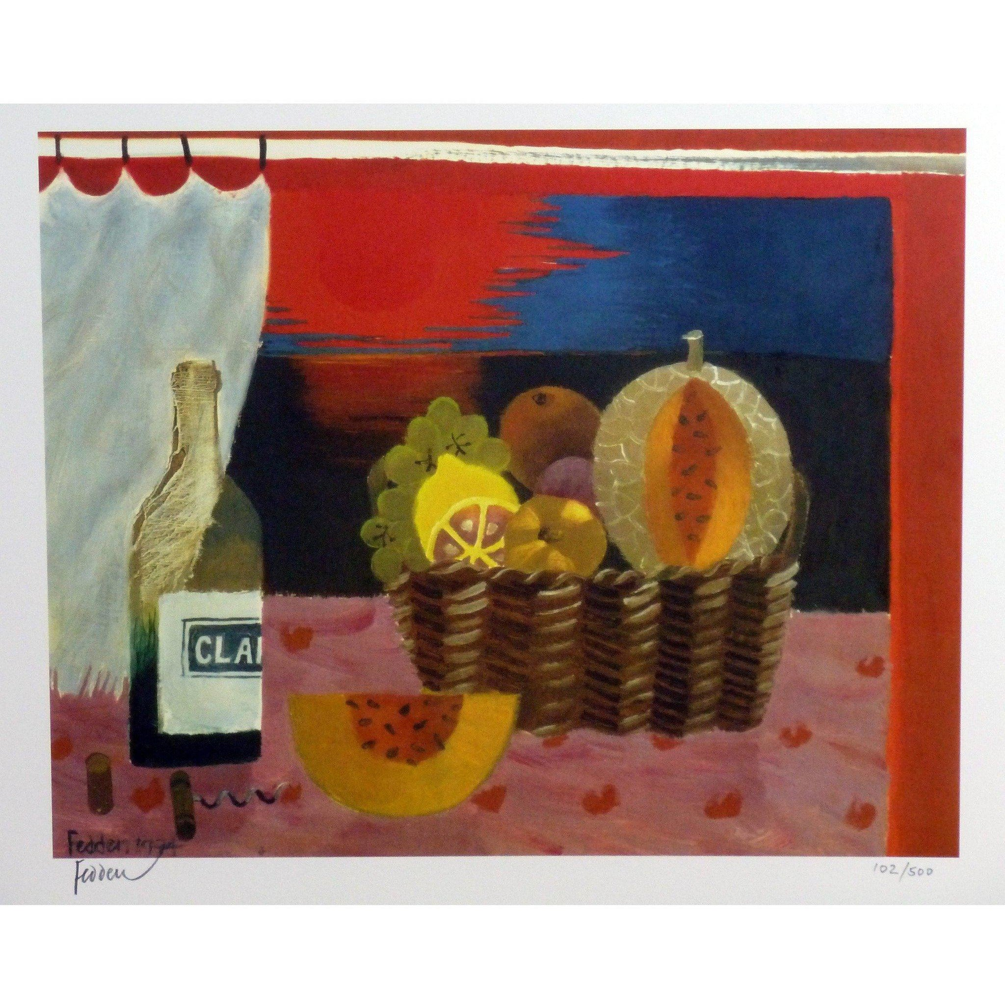 Mary Fedden Signed Ltd Ed Print - Red Sunset