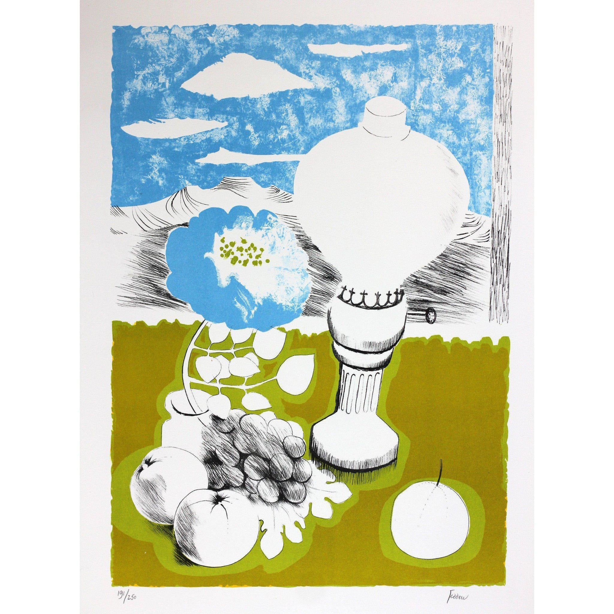Mary Fedden Signed Ltd Ed Print - The Lamp