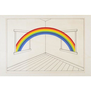 Patrick Hughes Signed Ltd Ed Print - 'Rainbow through Windows' - De Lacey Fine Art