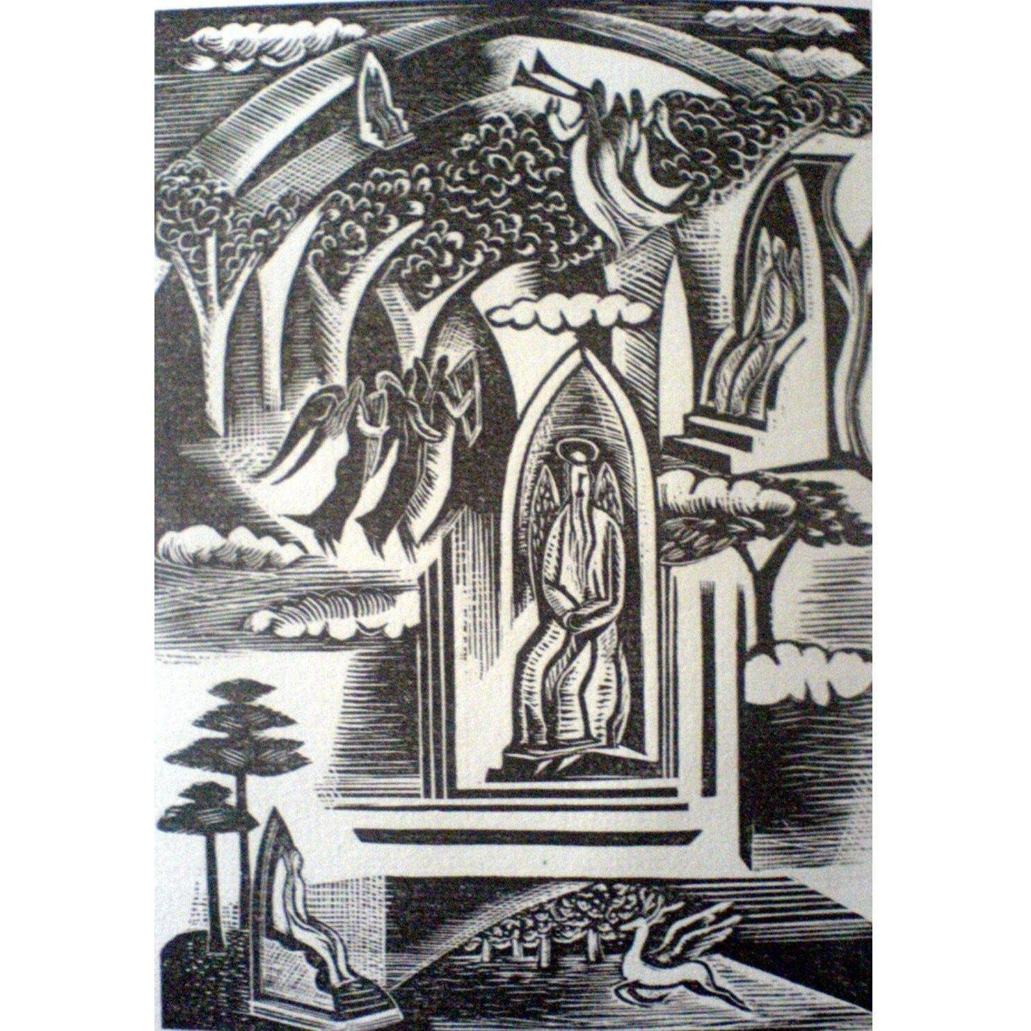 Paul Nash Ltd Ed Woodcut Print - Heaven