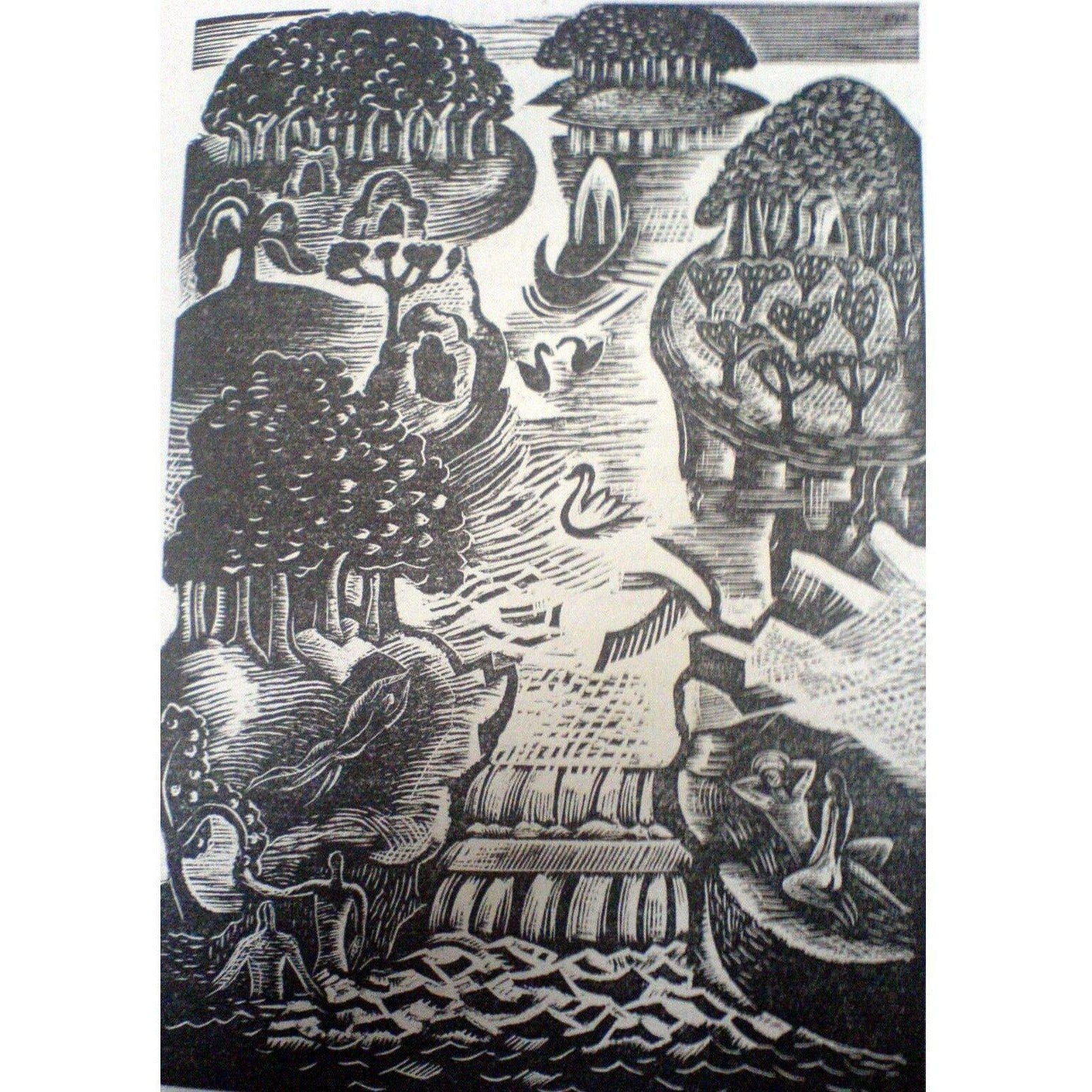 Paul Nash Ltd Ed Woodcut Print - Paradise
