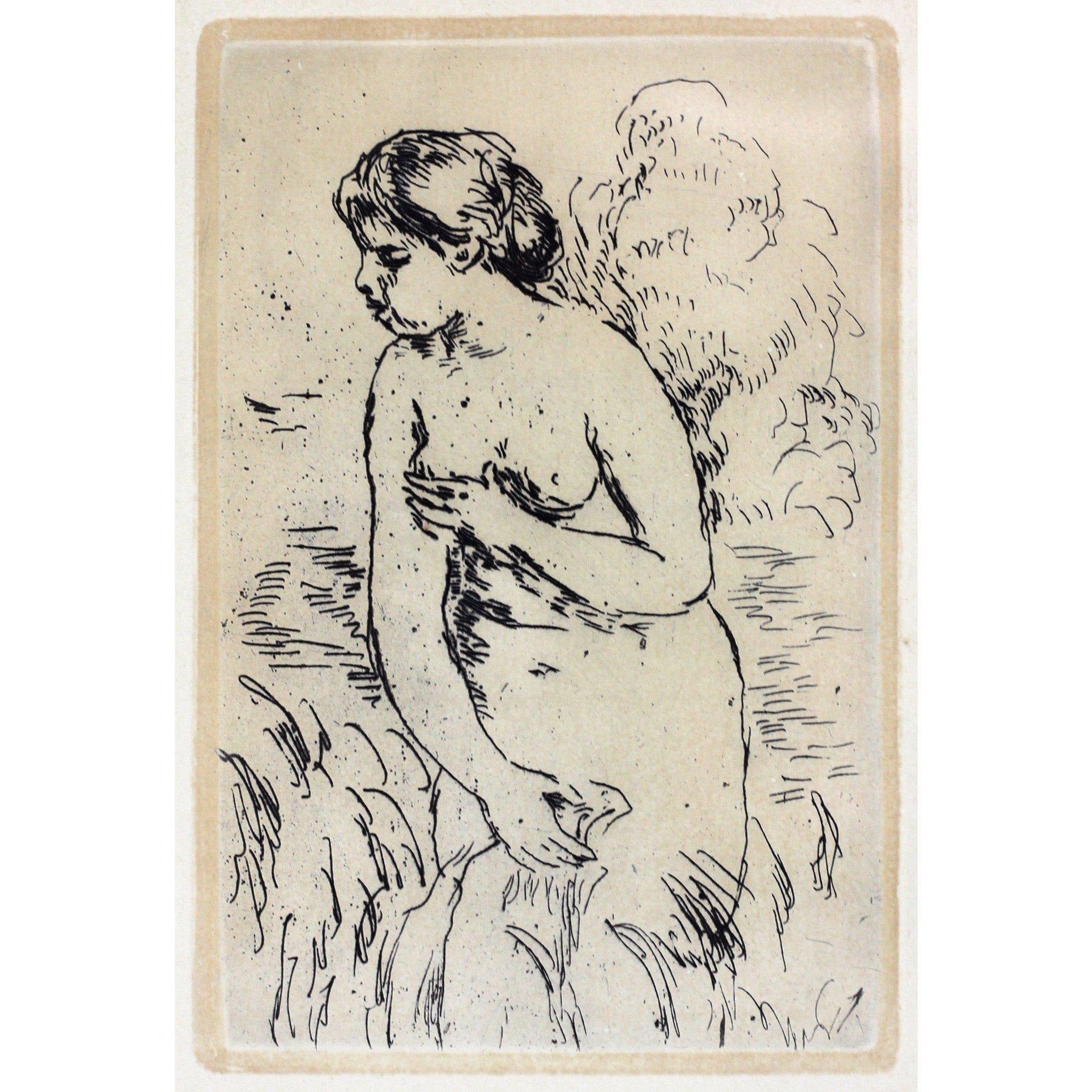 Pierre Auguste Renoir Etching - Bathing nude
