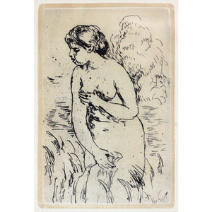 Pierre Auguste Renoir Etching - Bathing nude - De Lacey Fine Art Ltd