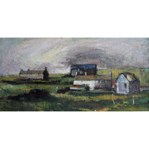 Robert Dawson - Farmhouse over Wales - De Lacey Fine Art Ltd