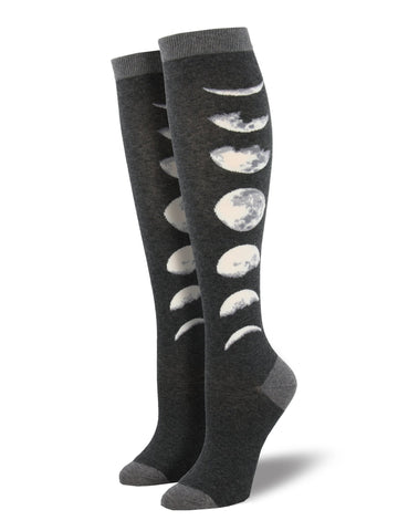 Women's Knee High Socks - Just a Phase Moon Phases