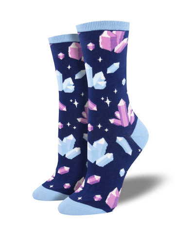Women's Socks - Crystal Clear Crystals Navy