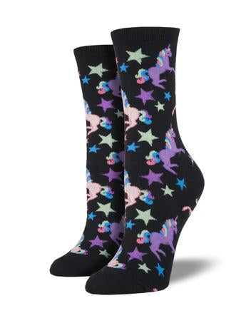 Women's Socks - Unicorn Black