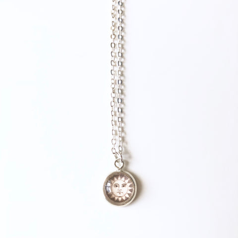 Tiny Sun Pendant Necklace