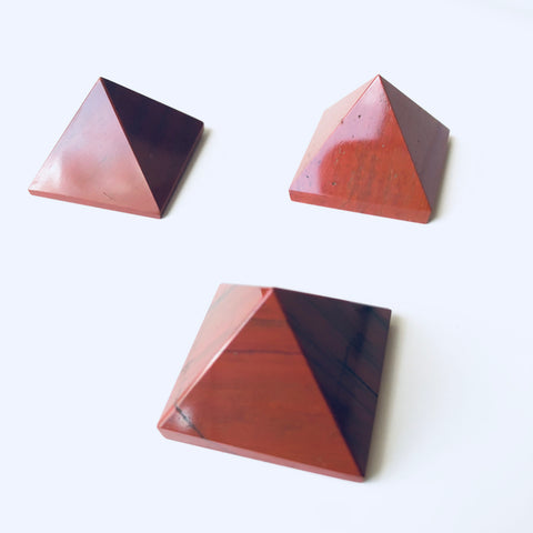 Gemstone Pyramid - Red Jasper