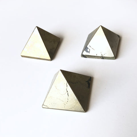 Gemstone Pyramid - Pyrite