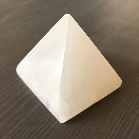 Gemstone Pyramid - Selenite