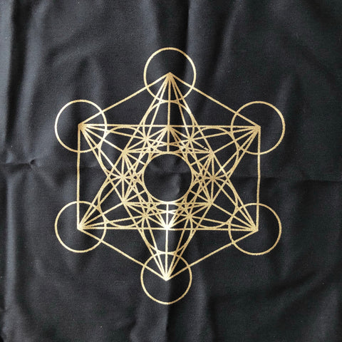 Altar Cloth - Black with Gold Metatron's Cube