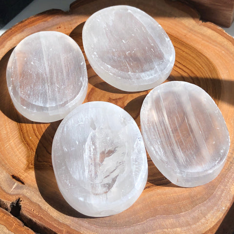 Crystal Palm Stone - Selenite