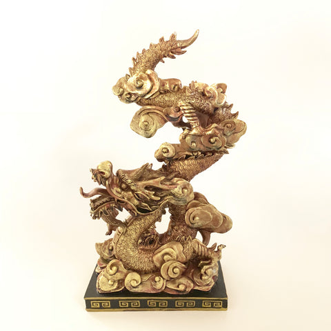 Large Golden Feng Shui Dragon