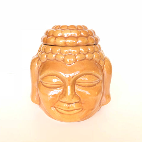 Oil Burner - Brown Ceramic Buddha