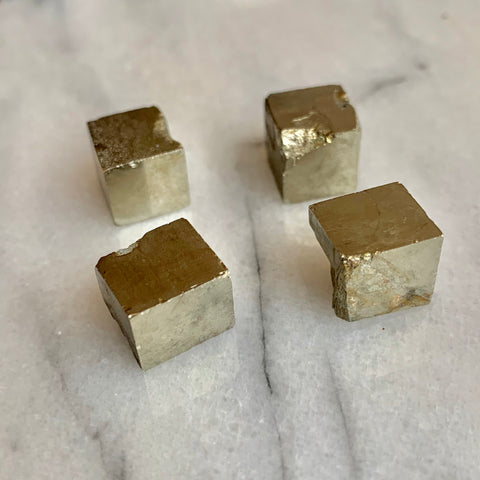 Pyrite Cubes - Set of 4 Crystals