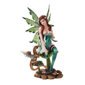 Green Fairy with Dragon Statue