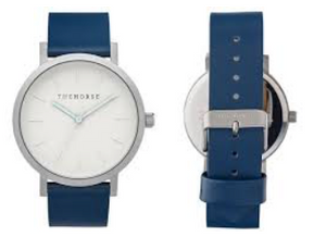The Horse Watch - brushed silver / navy