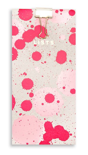 Nineteen Seventy Three Pink Splat Shopping List Pad