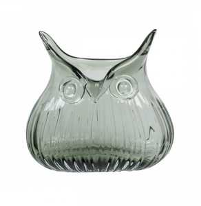 Horatio Owl Vase - small, smoke colour
