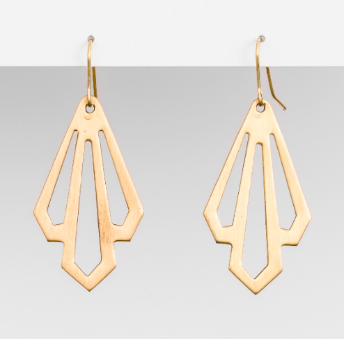 Stella + Gemma - Brass Palma Earrings