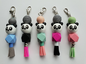 Panda School Bag Tags