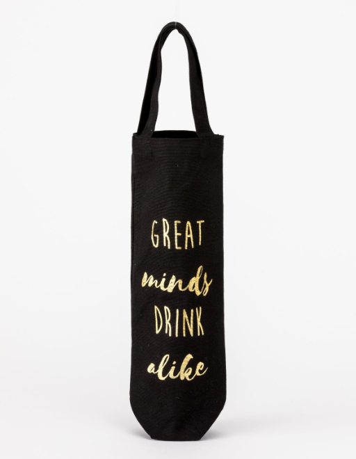 Canvas Wine Bags - Great Minds Drink Alike